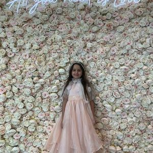 Girls dresses with tulle custom capes